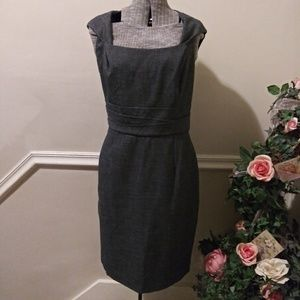 NWOT White House Black Market Gray Sheath Dress